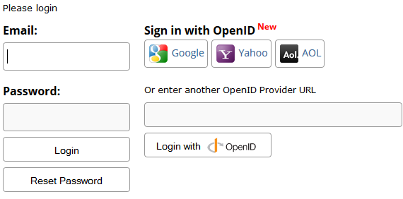 OpenID Login Page for Jetendo CMS